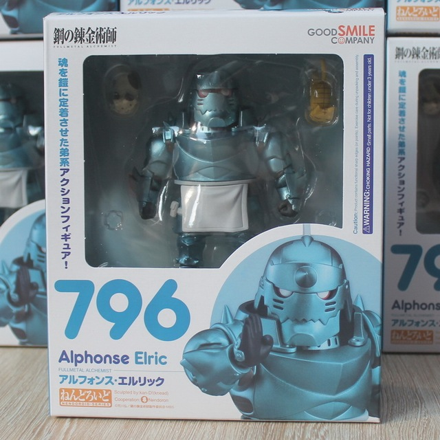 Nendoroid Fullmetal Alchemist Edward Elric 788 Alphonse Elric 796 Cartoon Toy Action Figure Model Doll Gift 3
