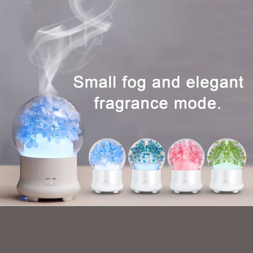 цена на Electric Aromatherapy Ultrasonic Humidifier Essential oil Aroma Diffuser Led Mist Maker Fogger Mini Portable Car Air Humidifier