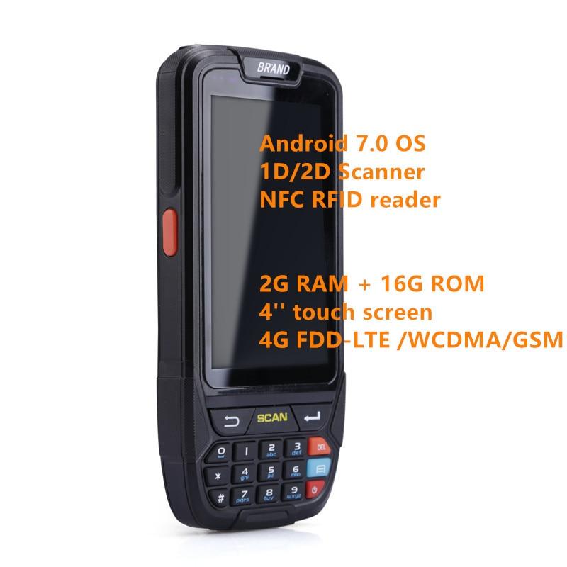 Scanner de código de Barras Sem Fio GPS Câmera Android Armazém 4G 2D Handheld Portátil coletor de dados PDA Barcode scanner honeywell