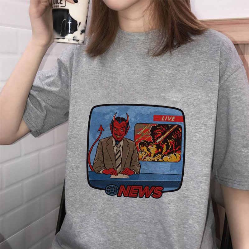 Fashion Summer Tshirt Women Pulp Fiction Funny Streetwear Graphic Tee Print Ulzzang Harajuku Sexy Kawaii Fashion Aesthetic