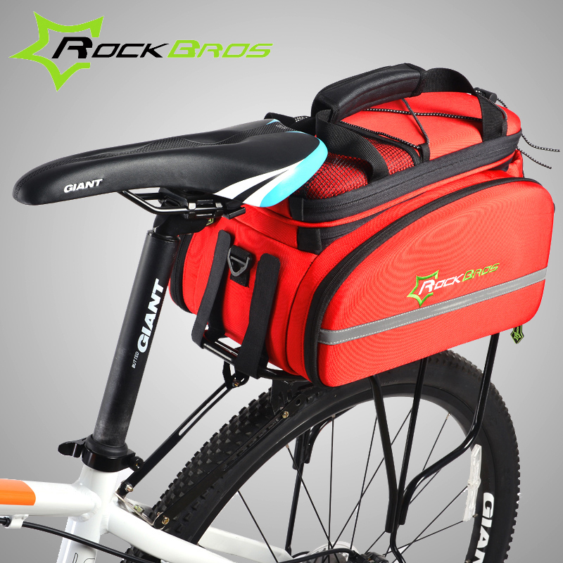 Rockbros Bicycle Rear Bag Rack Pannier 12l Extended Cycling Saddle Mtb Road Bike Travel Shoulder Handbag In Bags Panniers From