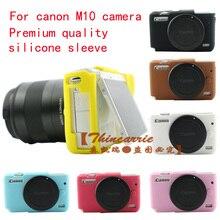 Alta Qualidade Silicone Case Camera Bag Capa para Canon EOS Câmera eosm10 M10 Em 7 Cores, Frete Grátis