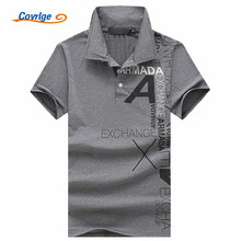 Covrlge High Quality Tops&Tees Mens Polo Shirts Business Men Brands Printing Turn-down Collar Shirt MTP095