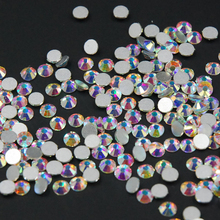 Sell like hot cakes SS3 -SS40 Crystal AB/Clear AB for Nail Art Rhinestone Flat Back Non Hotfix Glue on Decorations DIY
