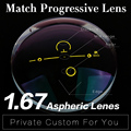 Extra fee for 1.67 Refractive index Progressive Lens Aspheric Multi-focal Lens HMC Graduated Progressive Addition Varifocal Lens