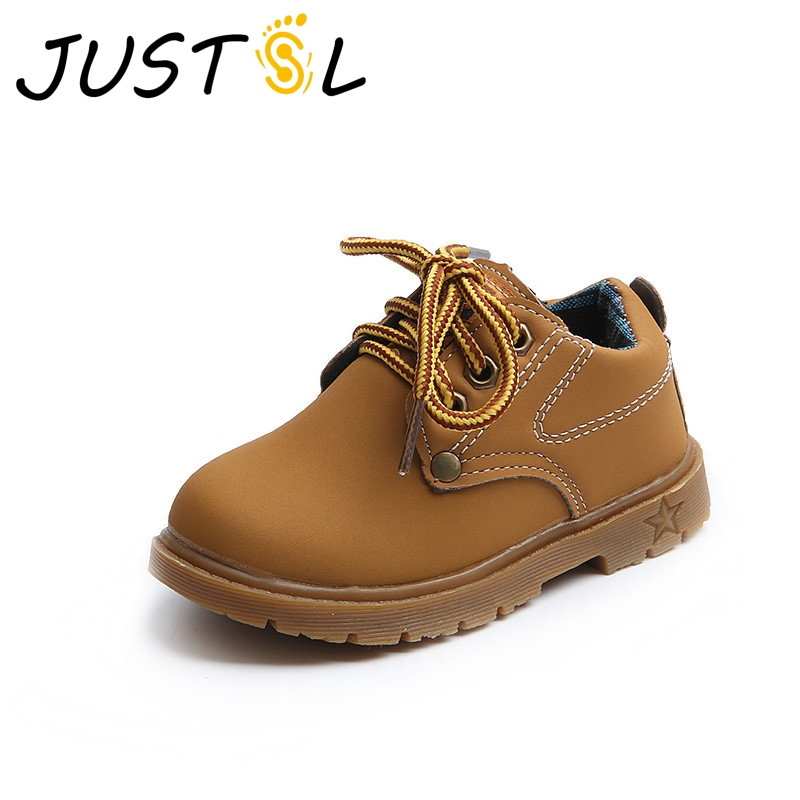 JUSTSL 2017 Spring Autumn children British wind casual shoes kids nons-slip fashion sneakers boys girls sport shoes