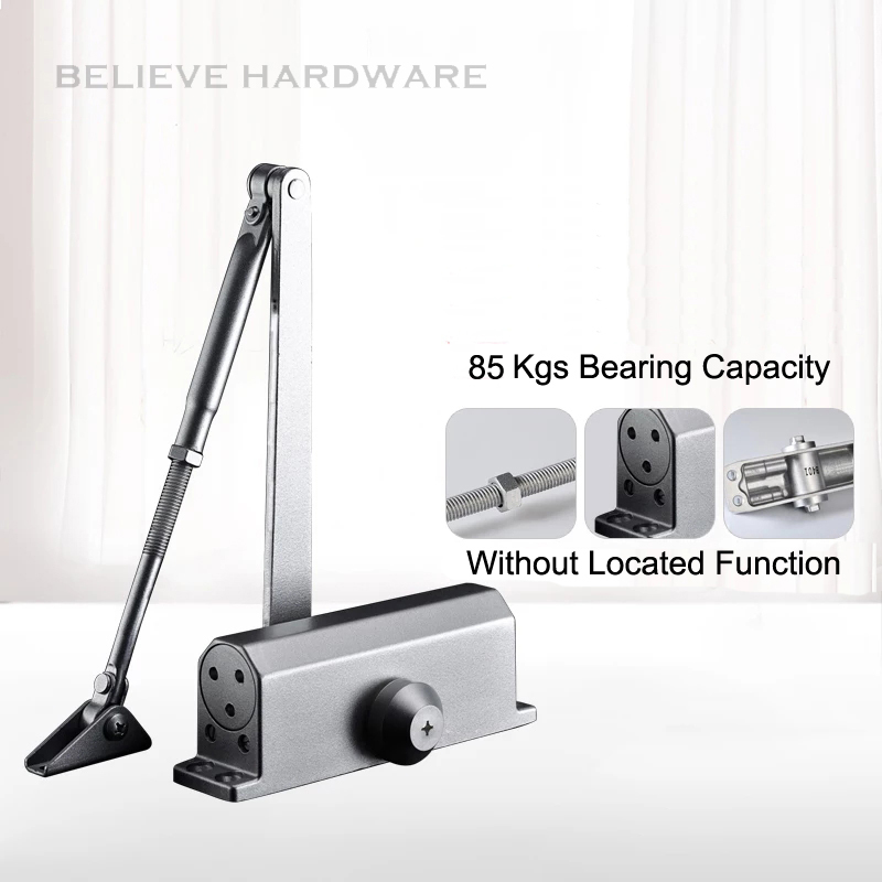 85 Kgs Bearing Capacity Hydraulic Buffered Door Closer Automatic Closing Doors WM02804F new automatic door closer mayitr household adjustable stainless steel hotel office surface mounted closing device for hardware