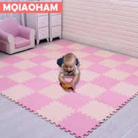 Le plus récent 18 pièces/ensemble EVA enfants mousse tapis mosaïque plancher Puzzle tapis bébé jouer tapis plancher développement rampant tapis Puzzle tapis