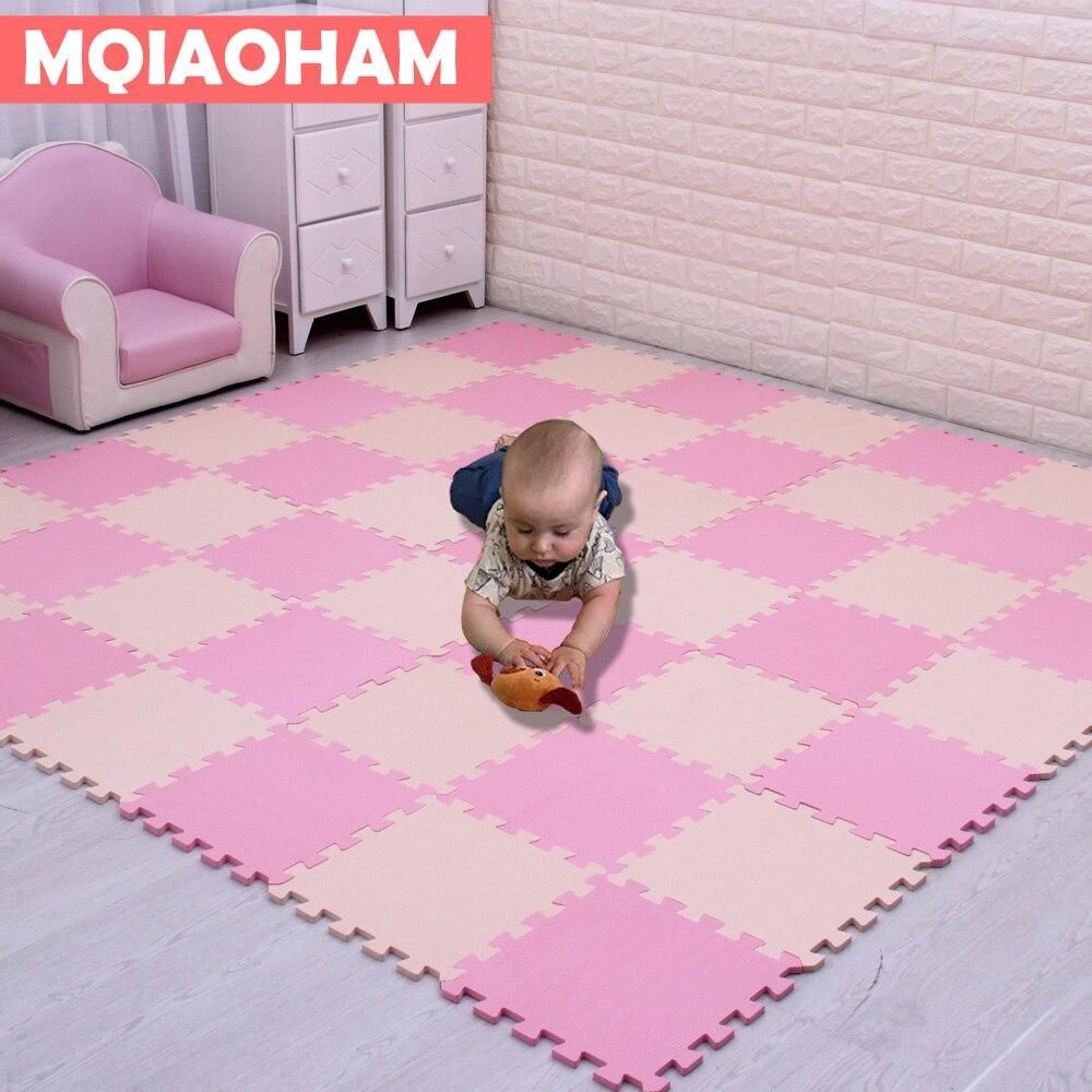 Mais novo 18 pçs/set EVA Espuma Tapete De chão de Mosaico das Crianças Enigma Tapete Esteira Do Jogo Do Bebê Chão Desenvolvimento Rastejando Tapetes Esteira do Enigma