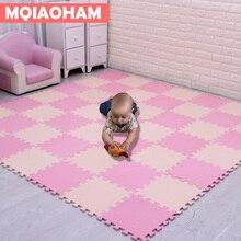Najnowszy 9/18 sztuk/zestaw EVA dla dzieci dywan piankowy mozaika Puzzle podłogowe dywan dziecko mata do zabawy podłogowe dywaniki rozkładane do raczkowania podkładka do puzzli
