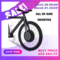 iMortor Electric Motor Wheel Electric Bike Conversion Kit with Battery All in one Ebike Motor Wheel bicicleta electrica kit MTB
