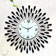 Creative set auger craft font b clock b font The sitting room wrought iron decorative font