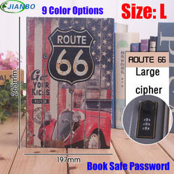 Размер L 9/цветной кодовый замок скрытый пароль Сейф стальная книга-реквизит для Дома Офиса деньги ювелирные изделия телефон Безопасный