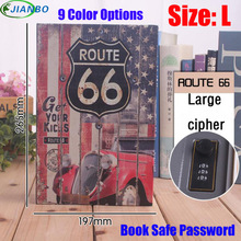 Size L 9/Color Combination Lock Hidden Password Safe Box Steel Simulation Book Home Office Money Jewelry Phone Storage