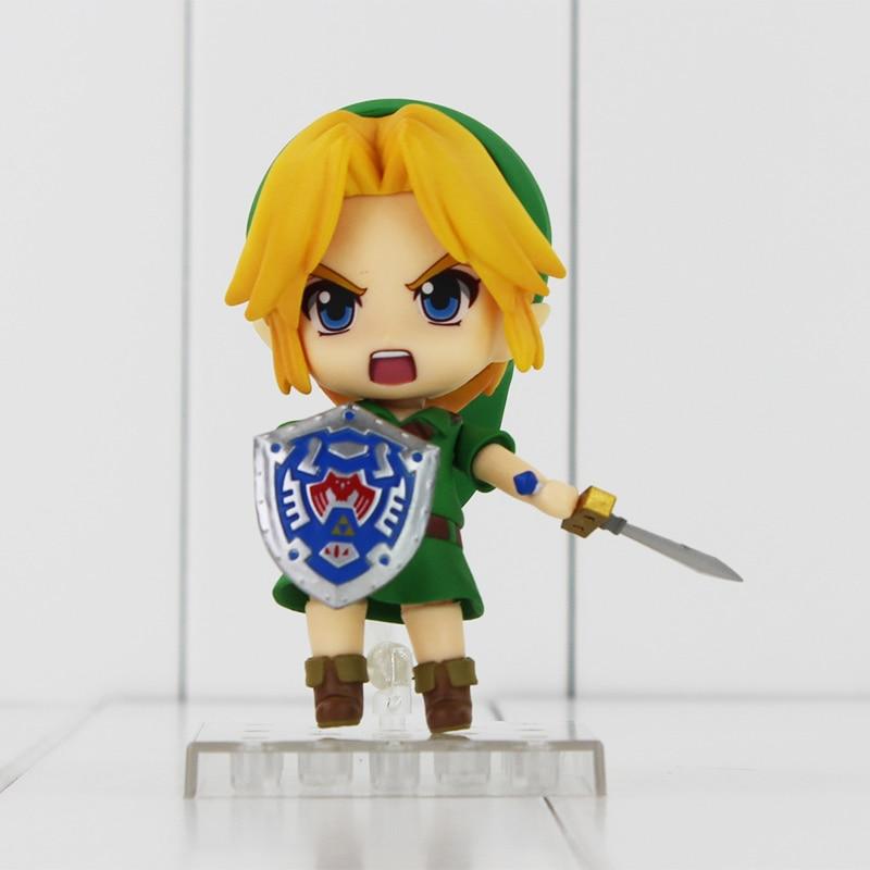 The Legend of Zelda Link Nendoroid Game Legend of Zelda PVC Action Figure 10CM Q Ver. Zelda Link Collectible Model Toy Gift Doll  nendoroid the legend of zelda link majora s mask 3d figure with original box