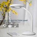 Free grátis 3-nível dimmer toque regulável led desk lamp flexível candeeiro de mesa redonda
