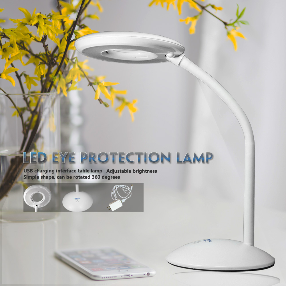 ФОТО Free shipping Dimmable Touch LED Desk Lamp Flexible 3-Level Dimmer Round Table lamp
