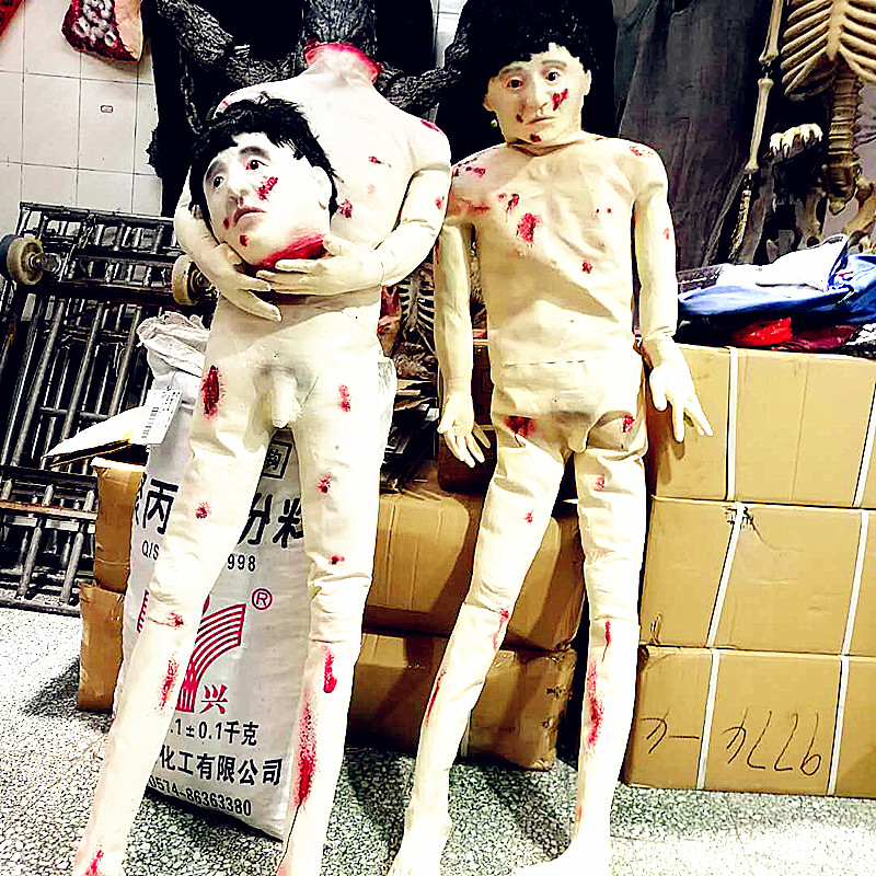1.6m Halloween Corpse Figurine Decollation Bloody Haunted House Decor Prop Novelty Gag Gift Creepy Cosplay Scary Prank Toy L2712 scary bitches scary bitches creepy crawlies
