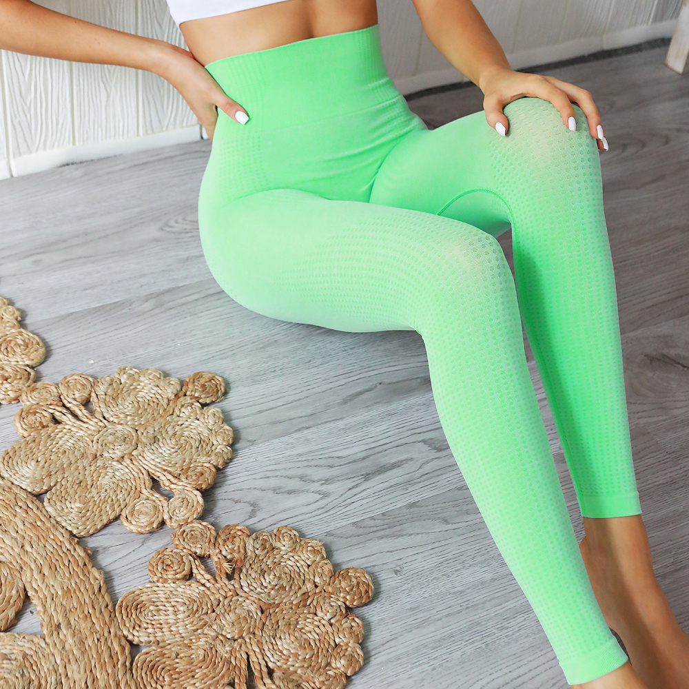Women Seamless Leggings for Fitness High Waist Sports Knitted Leggings Push Up Sports Pants Female Slim Pants High Elastic