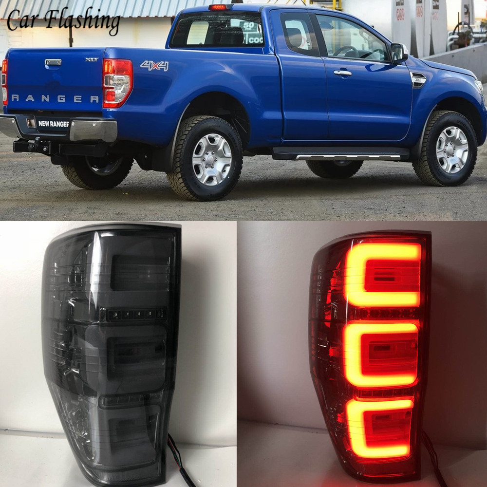 Car Tail Lights For Ford Ranger 2 3 2017 2016 2018 Taillights Led Drl Running Fog Angel Eyes Rear