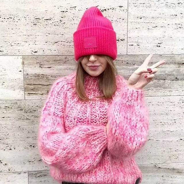 968f3eb7d3f3 BOHO INSPIRED Pink Mohair Sweater Ribbon bow tied back bell sleeves ...