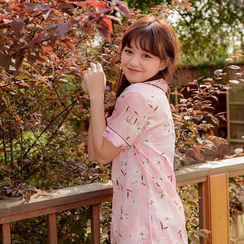 Aliexpress.com   Buy Smmoloa Women Silk Pajamas Floral Print Sleepwear  Pyjamas 95kg Can Wear 3Xl 5XL Over Size Pajama from Reliable Pajama Sets  suppliers on ... 3ca1dd52c