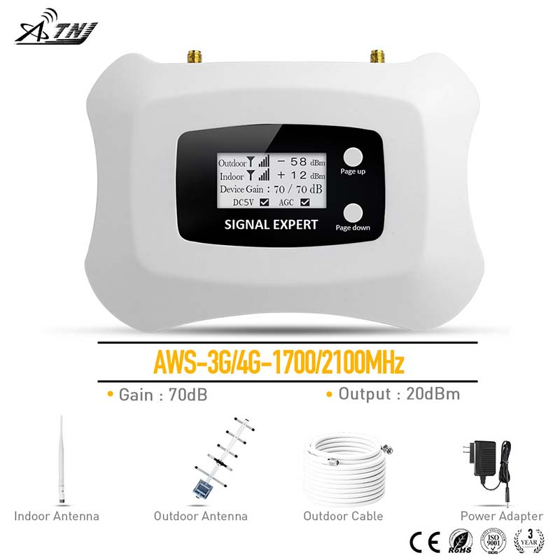 Top quality!3G 4G repeater with Smart LCD AWS1700MHz mobile signal booster 3G cellular signal amplifier kit for America areaTop quality!3G 4G repeater with Smart LCD AWS1700MHz mobile signal booster 3G cellular signal amplifier kit for America area