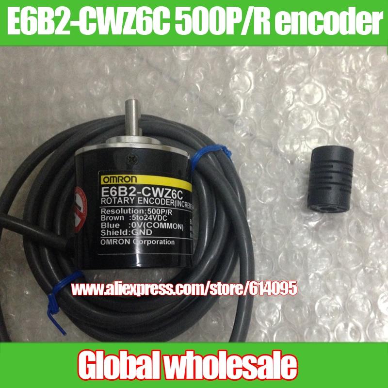 1pcs E6B2-CWZ6C 500P/R for Omron / 500 line ABZ 3-phase encoder / rotary optical encoder for Omron
