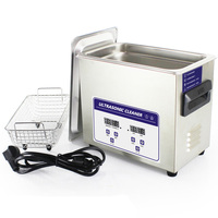 6.5L 031S 180W 200W Ultrasonic Cleaner Heater Timer Bath Adjustable Industry Ultrasonic Cleaning Machine