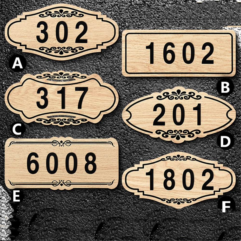 Customized Wooden Door Plates 3D Digits for Home Gates Hotel Room Personalized House 3 or 4 Numbers Huisnummer Stickers DoorCustomized Wooden Door Plates 3D Digits for Home Gates Hotel Room Personalized House 3 or 4 Numbers Huisnummer Stickers Door