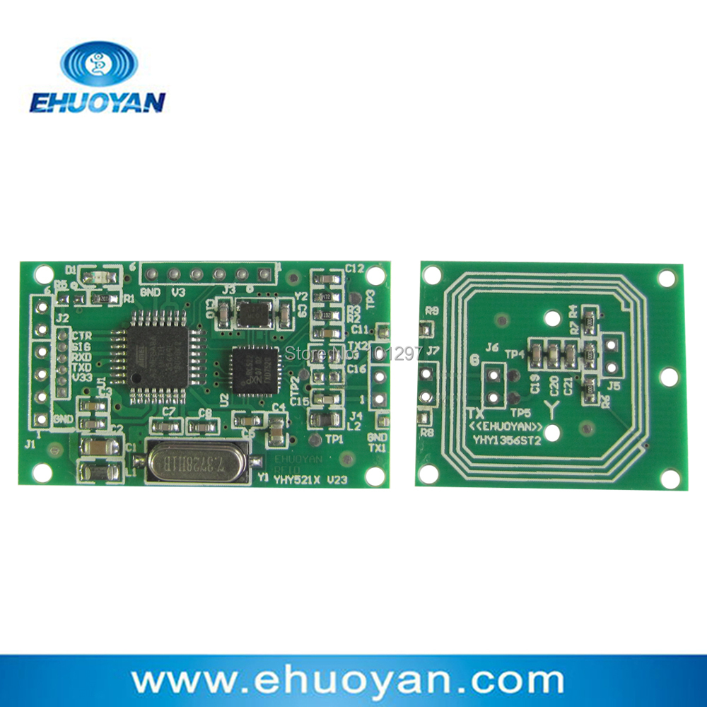 Mini Smart RFID  NFC Reader/Writer Module  13.56Mhz M1 /NTAG UART Separate Antenna YHY521X Suit + 2 Cards