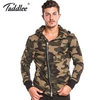 Taddlee Brand Camo Hoodies Men Full Zipper Jacket Sweatshirt Hooded Long Sleeve Casual Active Apparel Tee