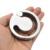 285g Pesos de aço inoxidável bola maca U-projeto sulco escroto escravidão castidade dispositivo de castidade masculino Bloqueio Anel Peniano pênis extensão