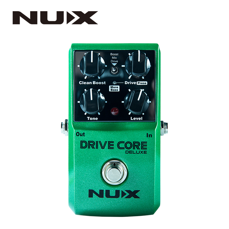 NUX Drive Core Deluxe Overdrive Classical Electronic Pedal Guitar Effect Pedal Mixture of Boost Overdrive Sound True Bypass