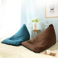 2016 new arrival lazy sofa single small bedroom sofa chair fashional triangle boat style lazy beanbag tatami bed