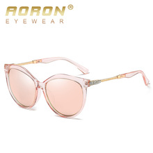 AORON 2019 Polarized Sunglasses Women Ladies UV400 High Quality Eyewear Sun Glasses Fashion Lens Diamond Luxury Brand Designer цена и фото