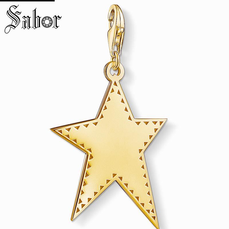 2019 Classic Gift 925 Sterling Silver Fit Bracelet Industrious Thomas Golden Star Charm Gifts Jewelry For Men & Women Charms Ideal Gift For All Occasions