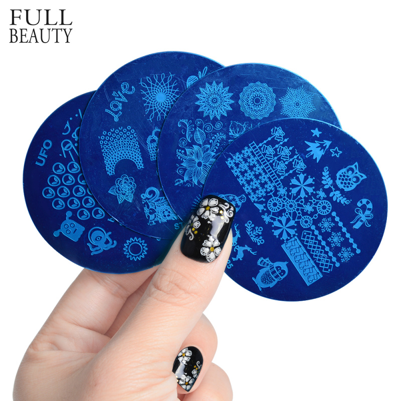 Full Beauty New Nail Stamping Plates Stainless Steel 28 Designs Polish Transfer Stencils Nail Art Templates Tool STZ101-130
