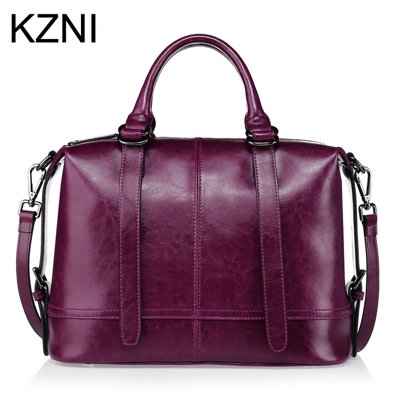KZNI Genuine Leather Purse Crossbody Shoulder Women Bag Clutch Female Handbags Sac a Main Femme De Marque L010141