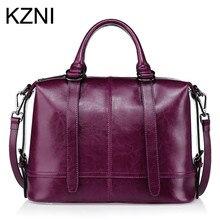 KZNI Genuine Leather Purse Crossbody Shoulder Women Bag Clutch Female  Handbags Sac a Main Femme De 9a74adbdeff46