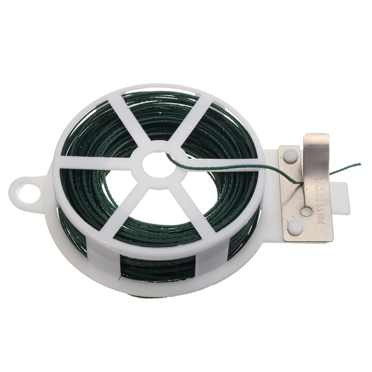 Newest Cable Tie 30M Roll Wire Twist Tie Reel Green Garden Gardening Cable String with Cutter Slicer Plastic and Iron