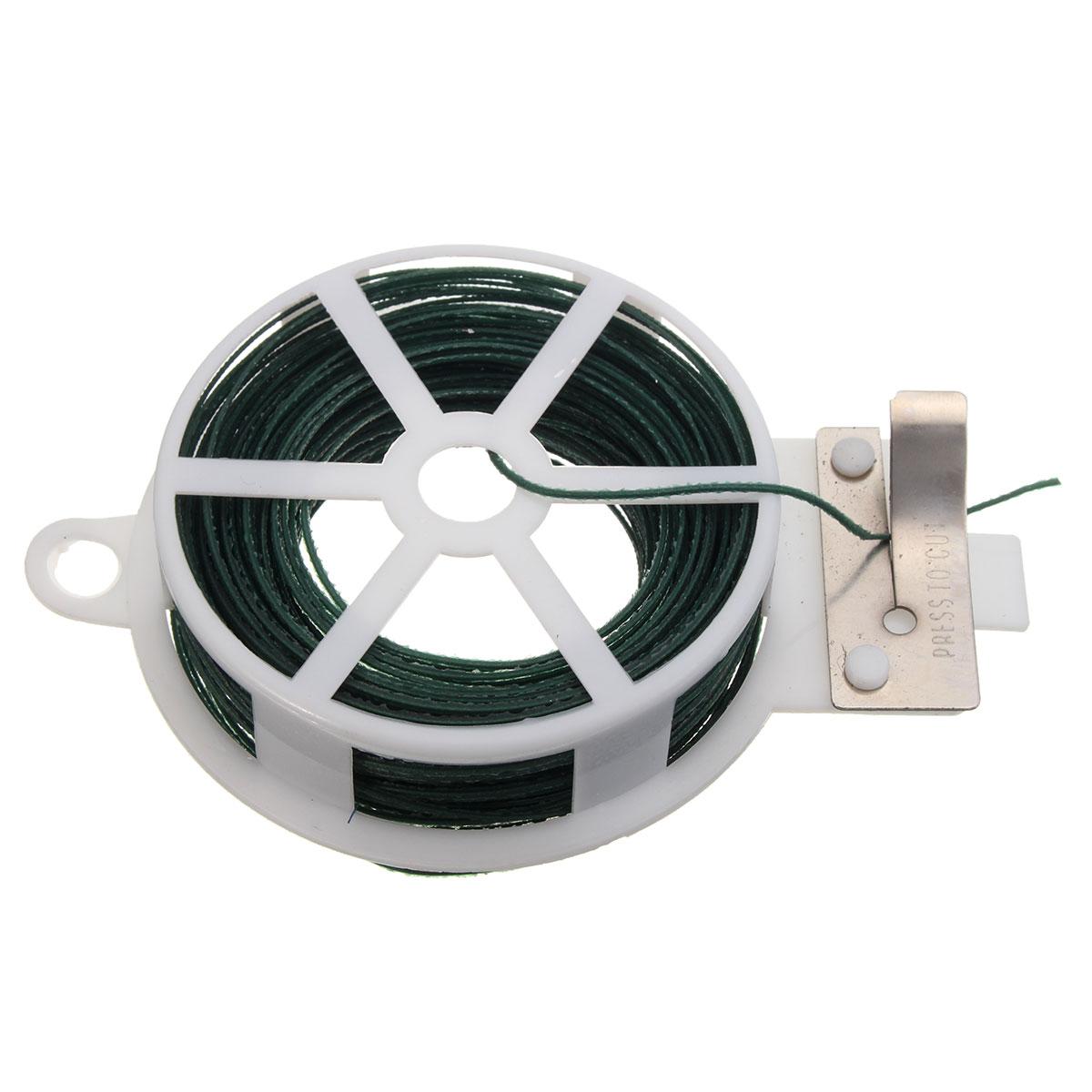 ∞Newest Cable Tie 30M Roll Wire Twist Tie Reel Green Garden ...