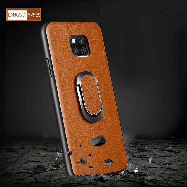 For Huawei mate 20 lite Case Genuine Leather kickstand coque For Huawei Mate 20 Cases Original Real Leather capa for mate 20