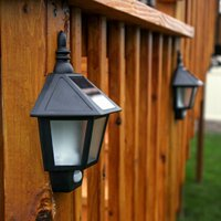 2 Solar light Mount Lantern Solar Rechargeable Security LED Lamp Outdoor Garden Landscape Path Way Hook Solar Lamp