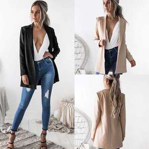 Thefound 2018 Women Ladies Suit Coat Blazer Long Sleeve