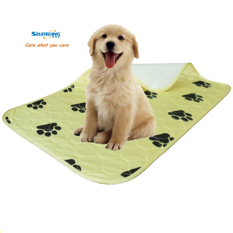 Reusable מאטס הכלב שתן Pee Pad Washable הגור הדרכה פאד, Waterproof כלבלב Underpad כריות צהוב