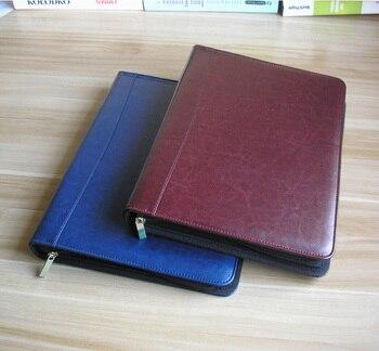 A4 Business büro reißverschluss dateiordner für dokumente dokument organizer a4 padfolio innentasche für tablet dokument stiftschlaufe 1311 Karat