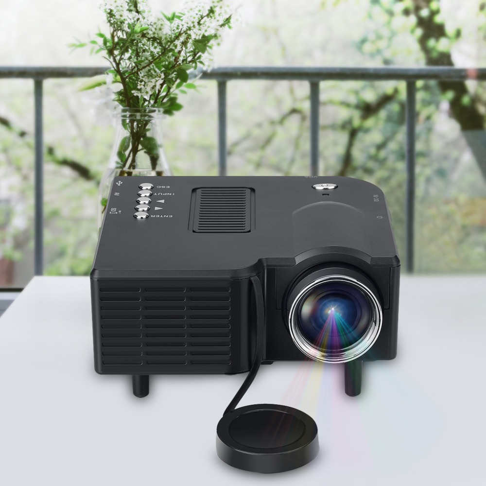 Excelvan uc28 mini pico projector home cinema theater for Small computer projector