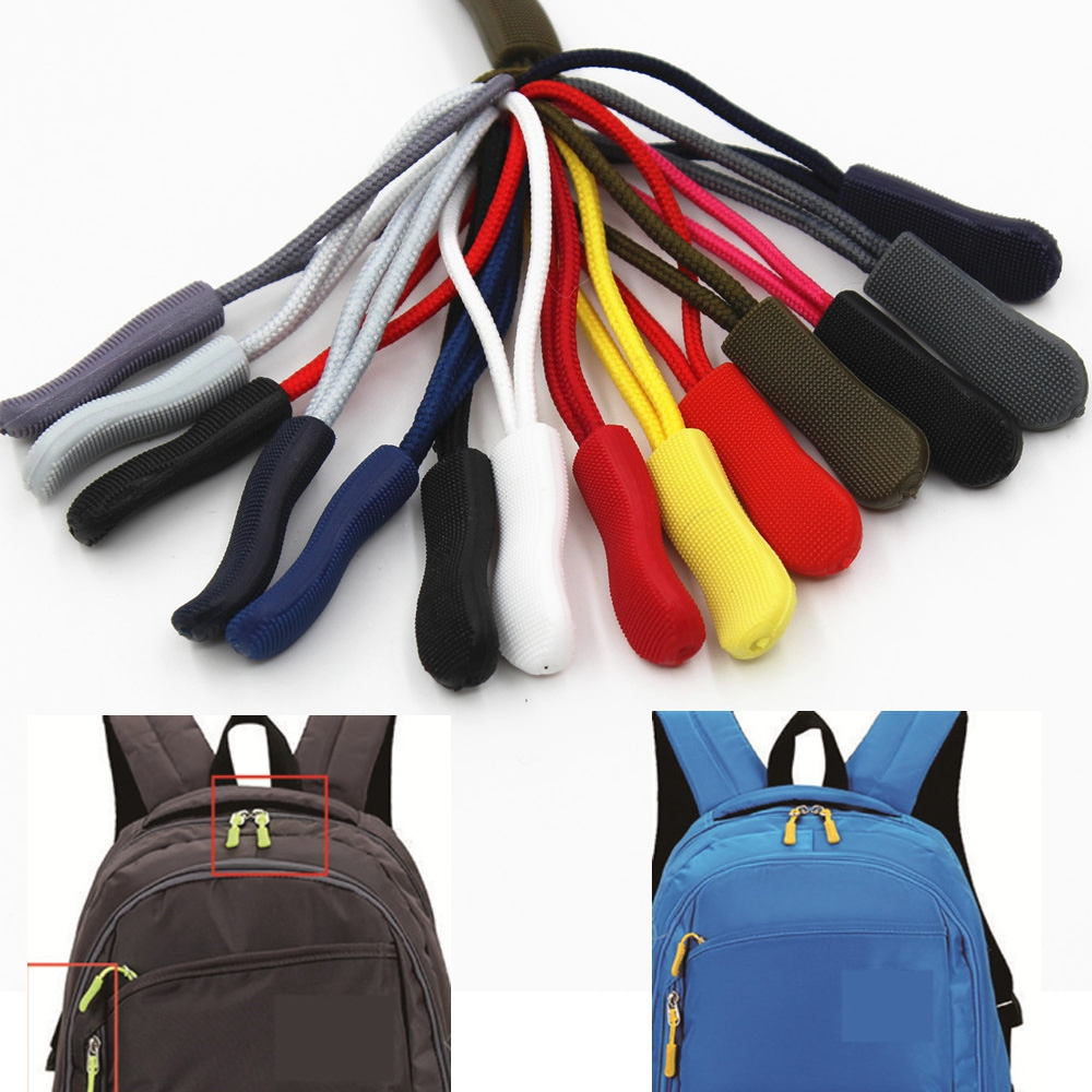 10Pcs Zipper Puller End Fit Rope Tag Bag Accessories Fixer Zip Cord Tab Replacement Clip Broken Buckle Travel Bag Suitcase Tent