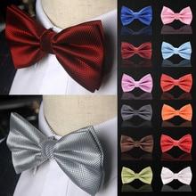 Галстук-бабочка, модная Свадебная вечеринка, для мужчин и женщин, gravata-borboleta, сплошной цвет, галстук-бабочка из полиэстера, Мужская одежда, рубашка, подарок